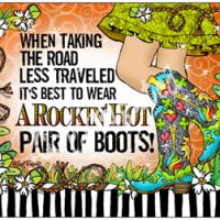 When taking the road less traveled it's best to wear a Rockin' Hot Pair of Boots – (TingleBoots) Mouse Pad