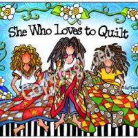 She Who Loves to Quilt – Mouse Pad