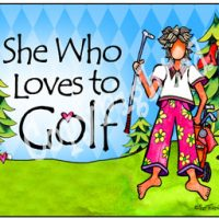 She Who Loves to Golf – Mouse Pad