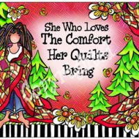 She Who Loves the Comfort Her Quilts Bring – Mouse Pad