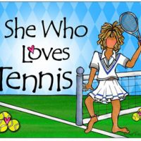 She Who Loves Tennis – Mouse Pad