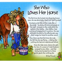 She Who Loves Horses (with story on the front) – Mouse Pad