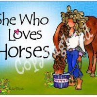She Who Loves Horses – Mouse Pad
