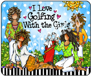 Golf w girls - mouse pad