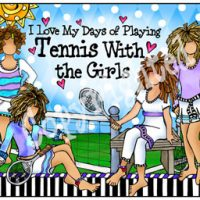 I Love My Days of Playing Tennis With the Girls – Mouse Pad