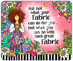 Ask Not Fabric - mouse pad