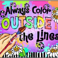 Always Color OUTSIDE the Lines – Mouse Pad