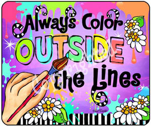 Color outside the lines - mouse pad