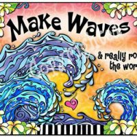 Make Waves & really rock the world! – Mouse Pad