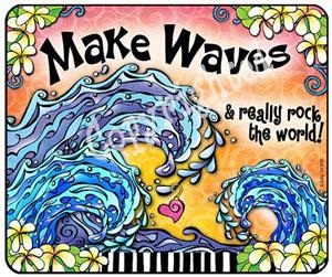 make waves - mouse pad