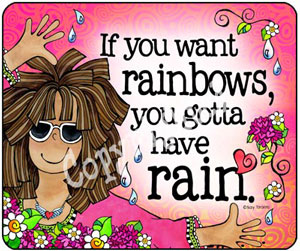 rainbows and rain - mousepad