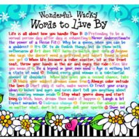 Wonderful Wacky Words to Live By – (HORZ) Mouse Pad