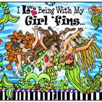 I Love Being With My Girl 'fins – (Divas of the Deep) Mouse Pad