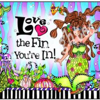 Love the Fin You're In! – (Divas of the Deep) Mouse Pad
