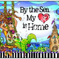 By the Sea My Heart is Home – (Divas of the Deep) Mouse Pad