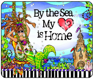 Heart is home at the Sea mouse pad