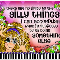 there are no limits to the Silly Things I can accomplish when I'm supposed to be doing something else – Mouse Pad