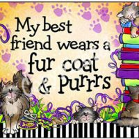 My best friend wears a fur coat & Purrrs – Mouse Pad