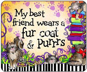 Best Friend Cat - mouse pad
