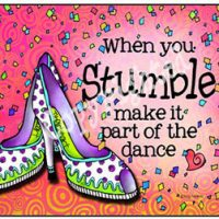 When you Stumble make it part of the dance – Mouse Pad