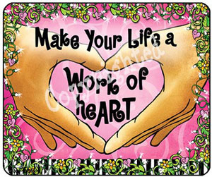 Work of Heart - mouse pad
