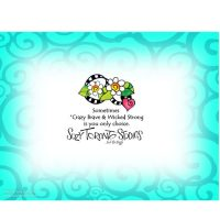 Crazy Brave & Wicked Strong  Oh yeah, you got this! – Note Cards
