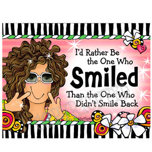 Smiled - note card