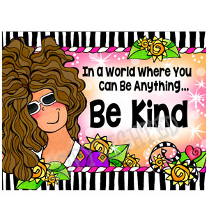 Be kind - note card