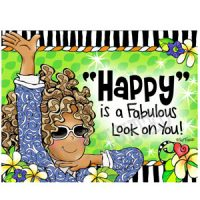 """Happy"" is a Fabulous Look on You! – Note Cards"