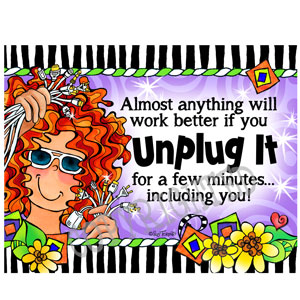 Unplug it - note card