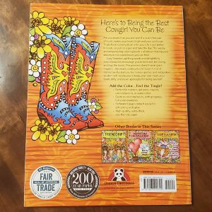 Tingle boots coloring book - back cover