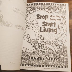 Tingle boots coloring book - inside page