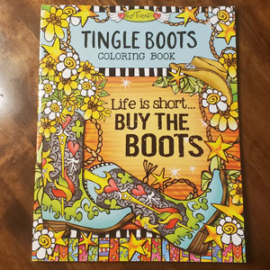 Tingle boots coloring book - cover