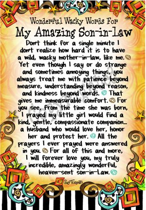 WORDS Son In Law Art Print
