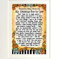 """Wonderful Wacky Words for My Amazing Son-In-Law – 8 x 10 Matted """"Gifty"""" Art Print"""