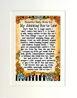 WORDS Son In Law Matted Art Print