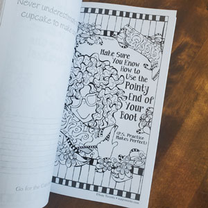 Laughter Coloring book - inside page