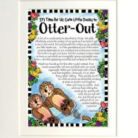 "It's Time for Us Cute Little Ducks to Otter-Out – 8 x 10 Matted ""Gifty"" Art Print"