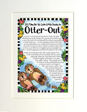Otter Out Matted Gifty Art Print