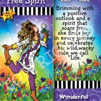 She Who is a Free Spirit …Truly a wild wacky Wonderful Woman – Bookmark