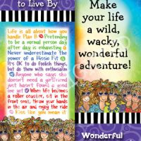 Wonderful Wacky Words to Live By …Inspiring Uplifting Empowering – Bookmark