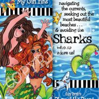 I Love Being with my Girl 'Fins …cause some days you just need to kick up some sand!- (Divas of the Deep) Bookmark