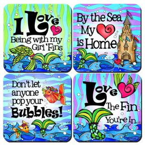 Divas of the Deep assorted Coaster 4 pack