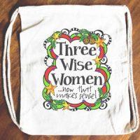 Three Wise Women …now that makes sense! (Christmas) – 15″ x 13″ Drawstring Backpack/Tote Bag