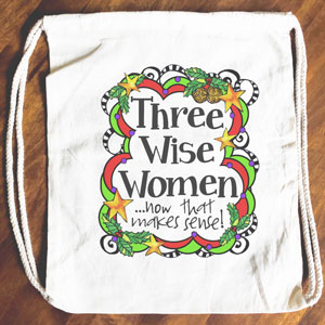 Wise Women - Drawstring Backpack - Tote bag
