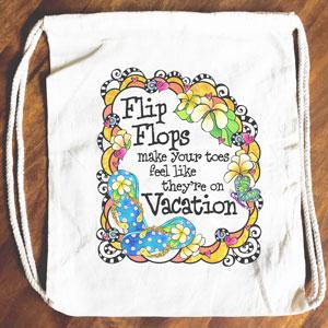 Vacation Toes - Drawstring Backpack - Tote bag