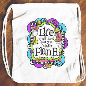 Plan B - Drawstring Backpack - Tote bag