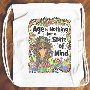 Age is Nothing - Drawstring Backpack - Tote bag