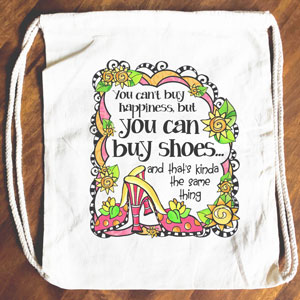 Happiness Shoes - Drawstring Backpack - Tote bag