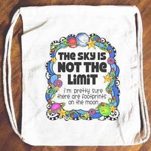 Sky not the Limit - Drawstring Backpack - Tote bag